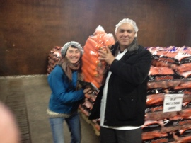 Sarah Archibald and Chef Abdel are excited to cook up local carrots through the school year!